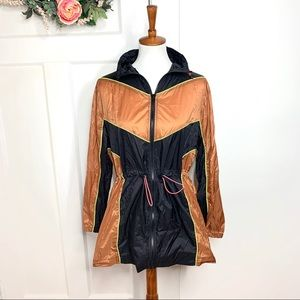 Urban Outfitters Cinched Waist Orange Black Jacket